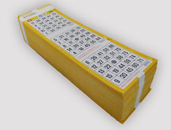 1-75 Bingoark FreePlay gul, enkle
