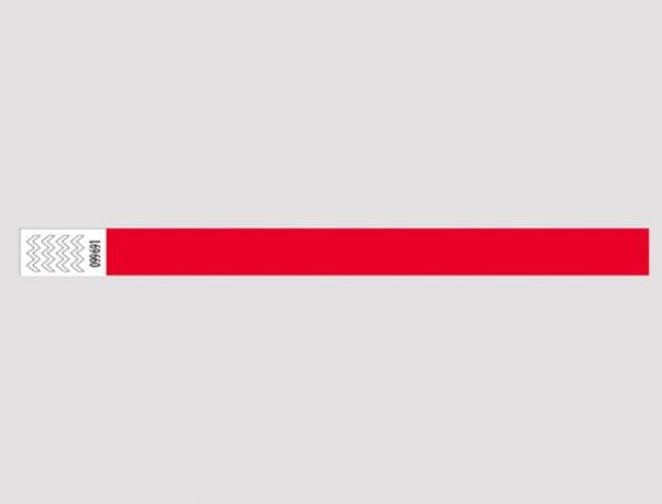 Festivalarmbånd rød Tyvek