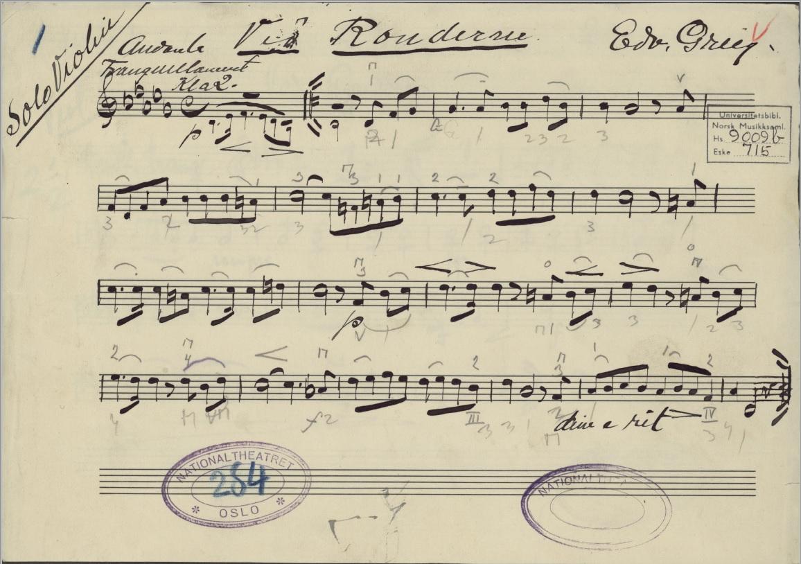 Ved Rondane Edward Grieg bilde av original