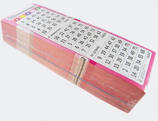 26012 Nummberbrikke rosa