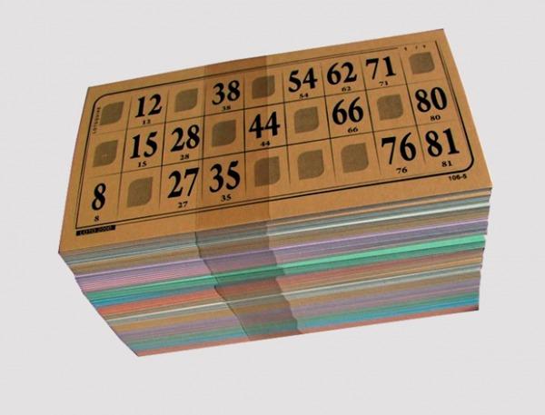 40007 bingobrikker i kartongark