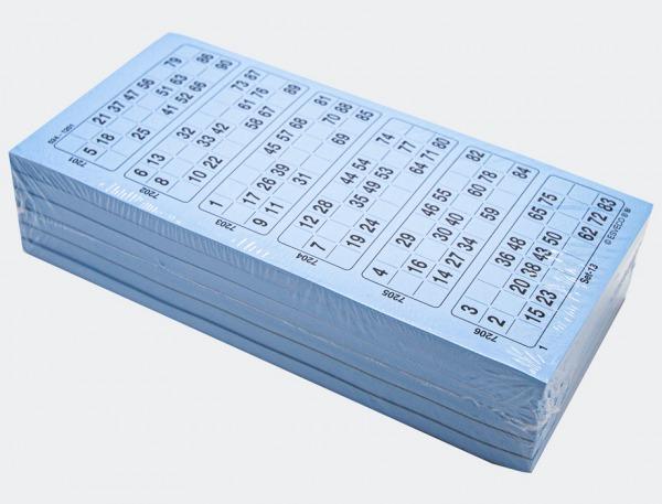 H1- 1044 blå bingoark