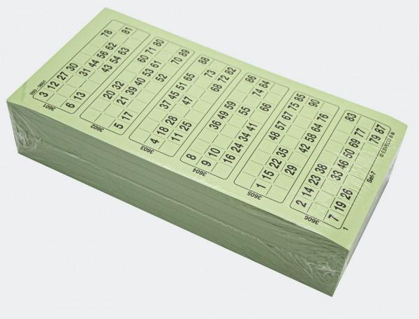 1-90 grønne bingoark 600 stk