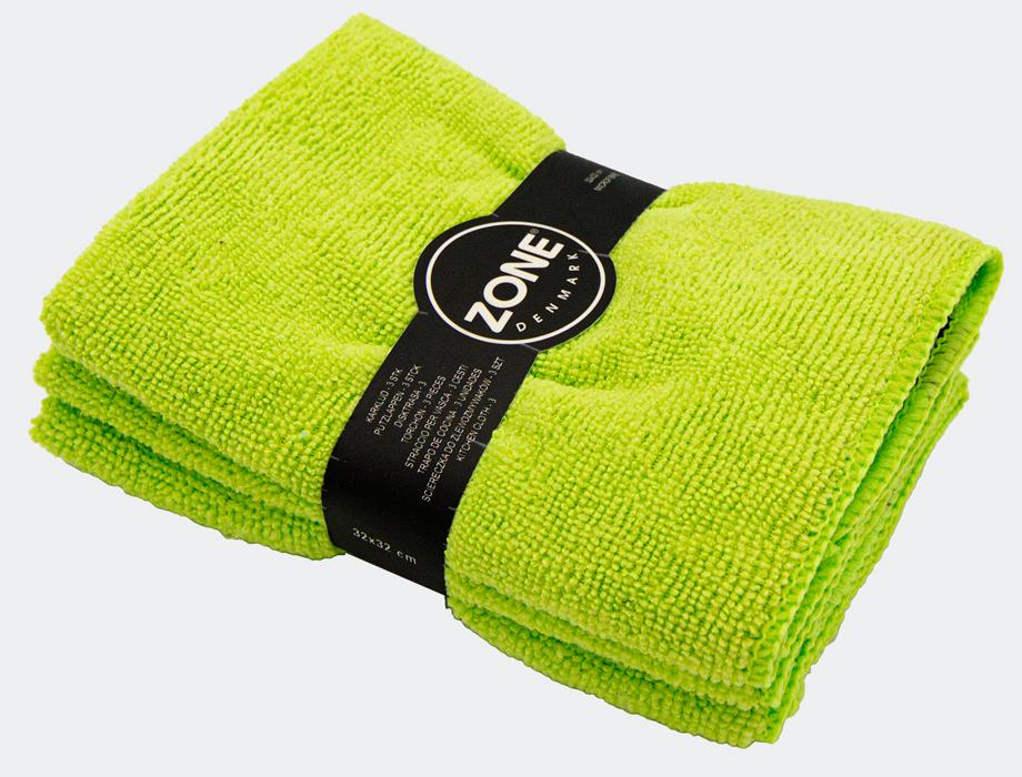 Microfiberklut grønn 3 pk.