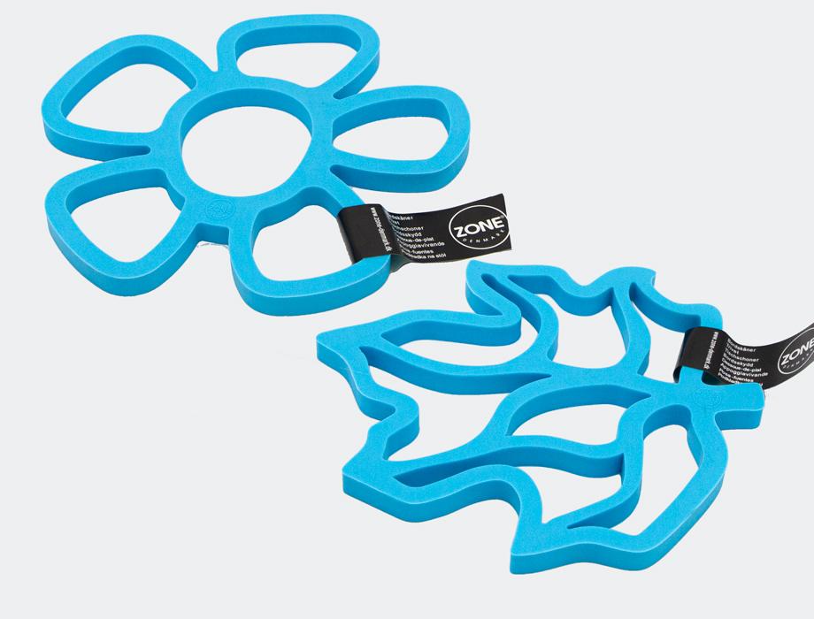Blå bordskåner i silikon