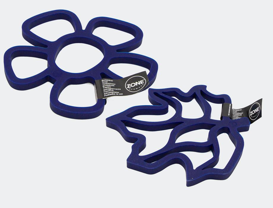 Lilla-blå bordskåner i silikon
