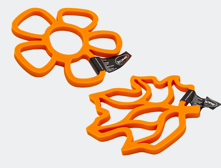 Oransj bordskåner i silikon