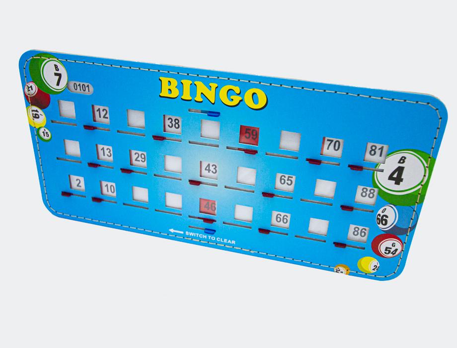 Bingoplate 1-90 med skyveluker